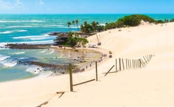 Vista da praia de Genipabu - Rio Grande do Norte