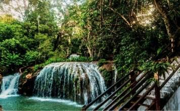 Cachoeira em Estância Mimosa em Bonito - Mato Grosso do Sul