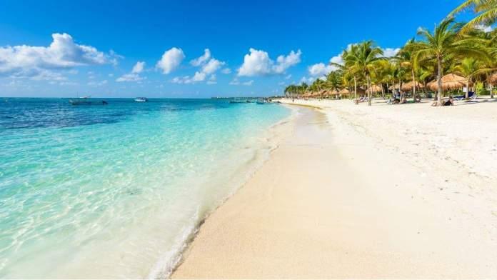 Praia Akumal - Paradise Bay Beach em Quintana Roo, México - costa do Caribe - Riviera Maya