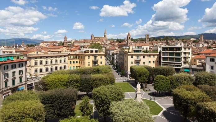 Foto da cidade de Arezzo, na Toscana, Itália.