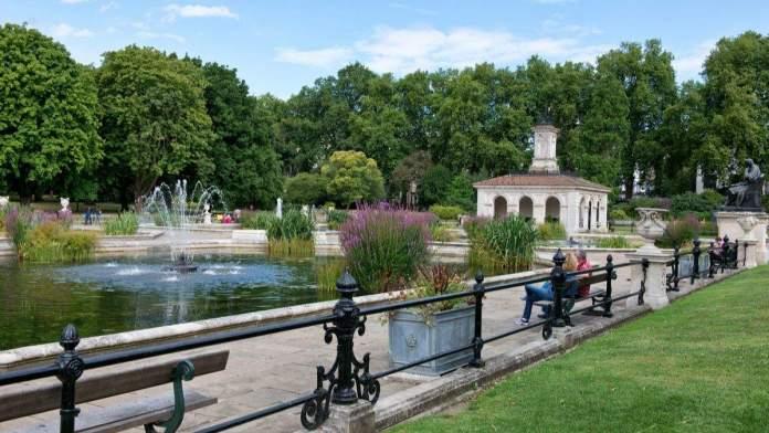 Os jardins italianos no Hyde Park é um dos pontos turísticos para visitar em Londres