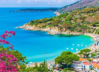 Vista panorâmica de Portoferraio na Ilha de Elba, Toscana, Itália.