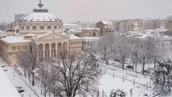 Bucareste em um dia de inverno
