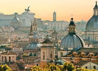 Vista do Castel Sant'Angelo, em Roma, Itália