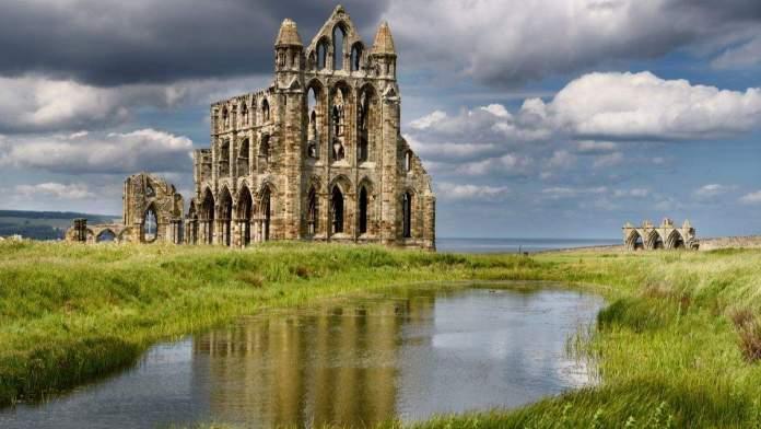 Ruínas góticas de York, Inglaterra.