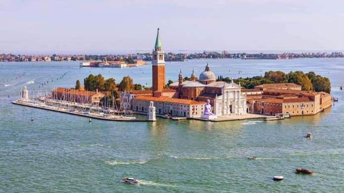 Igreja San Giorgio Maggiore em Veneza, Itália.