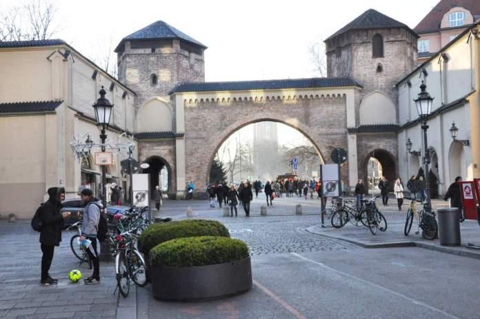 Portal Sendlinger Tor em Munique - Alemanha