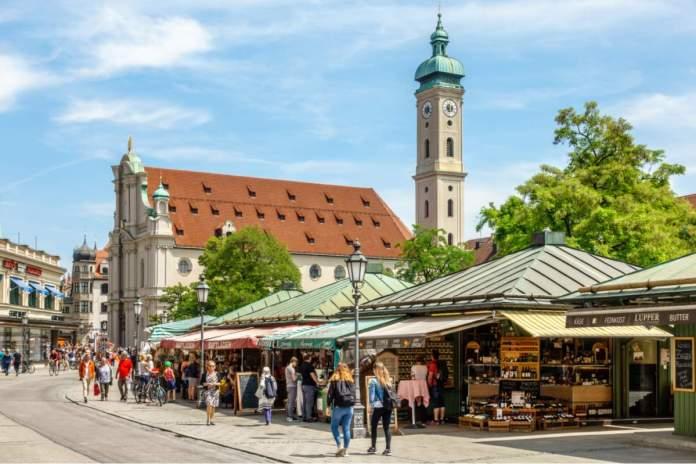 Viktualienmarkt em Munique - Alemanha