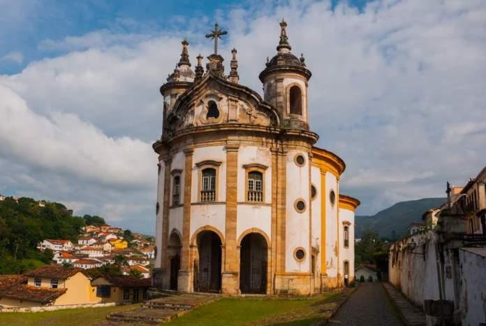 Igreja Nossa Senhora do Rosário em Ouro Preto - Minas Gerais