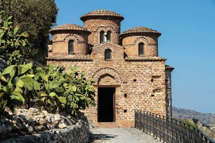 La Cattolica, Stilo, Calábria, Itália.