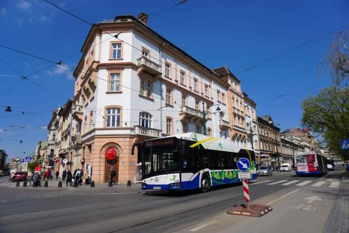 Transporte público em Cracóvia, Polônia