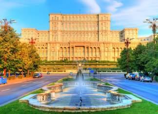 Palácio do Parlamento em Bucareste, Romênia.