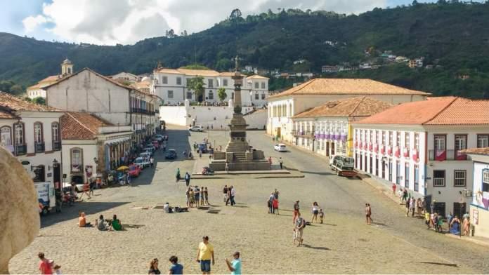 Praça Tiradentes em Ouro Preto - Minas Gerais