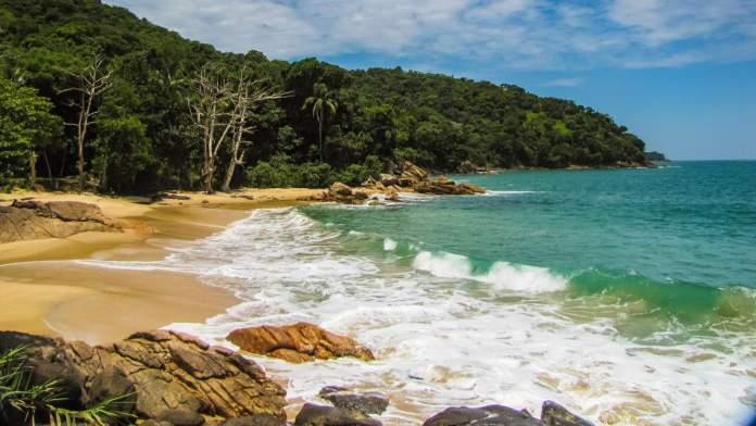 Praia do Félix é uma das praias para surf em Ubatuba - São Paulo