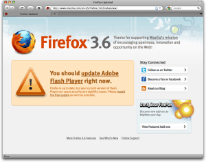 firefox 3.6.6. what's new: flash upgrade