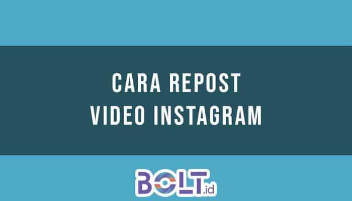 Repost Video Instagram