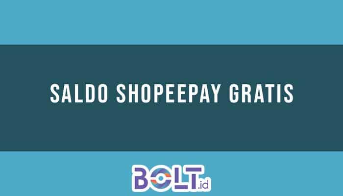 Saldo ShopeePay Gratis