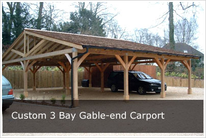 Carports Oak Frame Carport Kit Style Diy