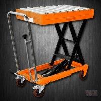 Hydraulic Scissor Roller Top Lift Table Cart   1100 lb   TF50R