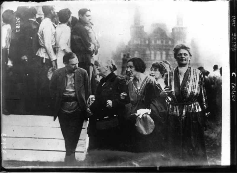 Clara Zetkin and her comrades at the 2nd International Congress of Communist Women, Moscow, 1921.