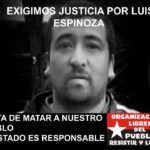 Argentina. Repudian la desaparición forzada y asesinato de Luis Espinoza