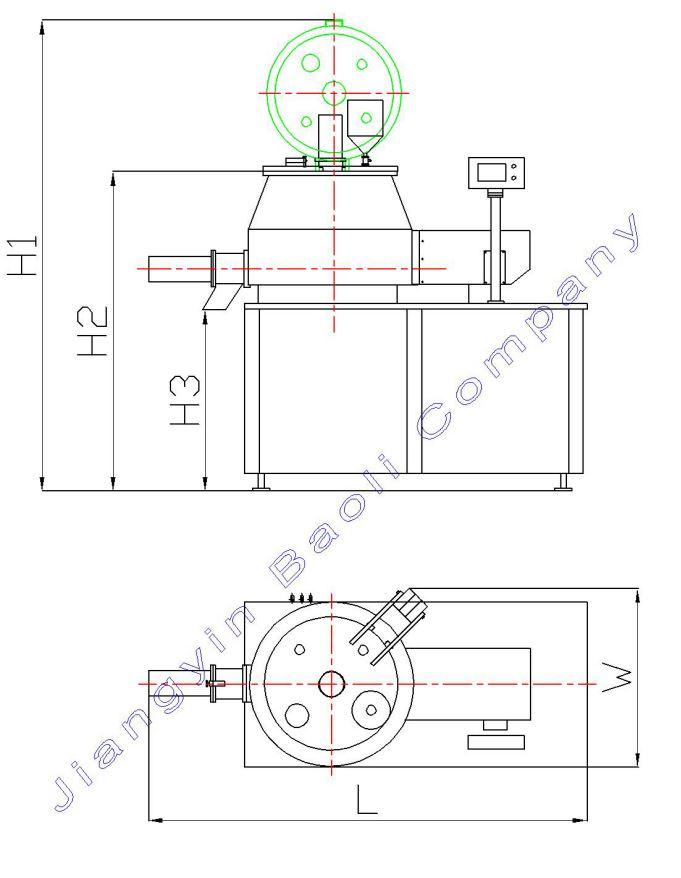 China High Shear Mixer Granulator Wet Granulation