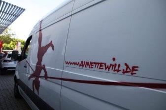 AnnetteWill.deTypo Annette Will Seiltänzerin Sprinter Bus 2017
