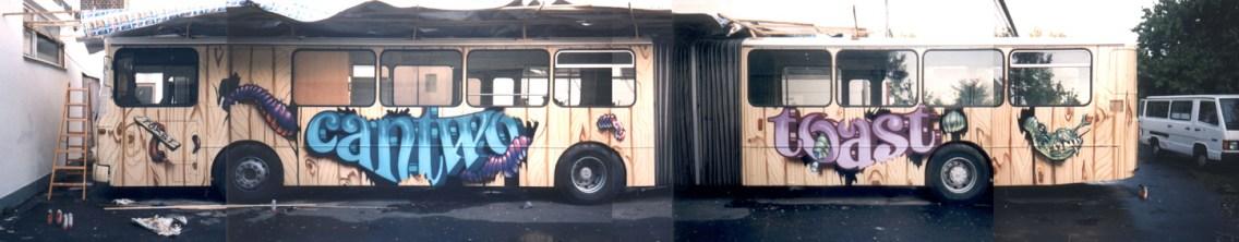 Ziehharmonika Bus in Holzoptik für den IB, Offenbach 1996