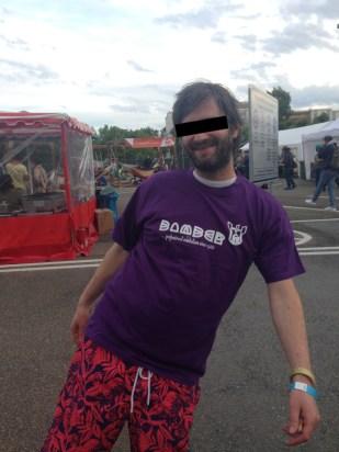 Bomber subwear Streetwear T-Shirt purple