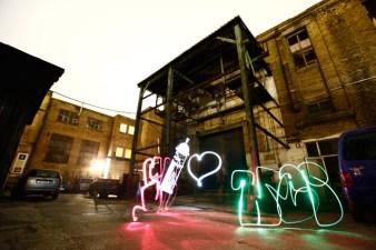 »Lightgraffiti« Bomber feat. Lichtfaktor Dj Crazy Cuts Luminale Phrix Hattersheim 2010