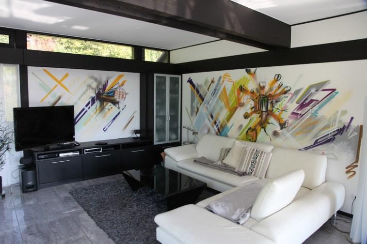 Huf-Haus Wandgestaltung