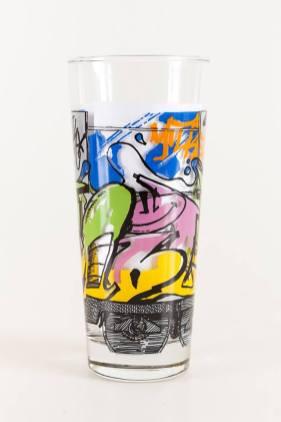 Whole Train limited edition Ritzenhoff Graffiti Milkglas Milchglas Serie, 1997