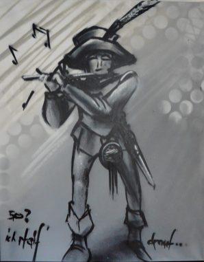 Freie Arbeit, Free artwork spraycan on canvas, piper, Pfeifer 2018
