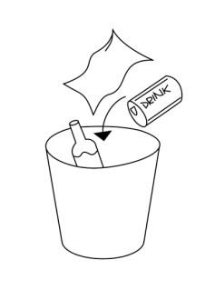 CAMPUSERVICE der Goethe-Universität 2017 Piktogramme: Müll entsorgen