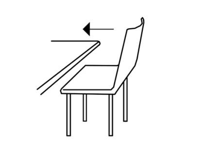 CAMPUSERVICE der Goethe-Universität 2017 Piktogramme: Stühle an die Tische