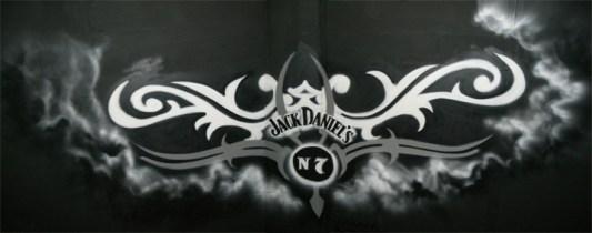 Jack Daniels Deckengraffiti in 7 m Höhe, Karlsruhe 2007