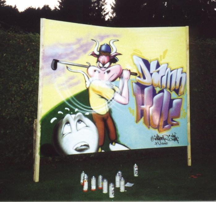 Surface for Red Bull, Golf Tournament BMW open Munich-Strasslach 2000