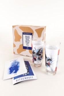 Milkglas Daim Mirko Reisser Ritzenhoff Graffiti Milkglas Milchglas Serie, 1997