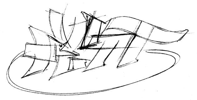 MTV- Fett, Fett Logo digital sketch , 1998. Music Television London.