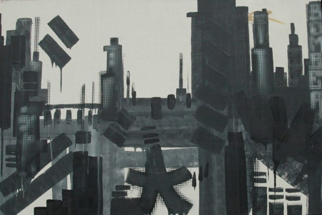 Skyline-Biel, Switzerland 120-x 180 cm, 2008
