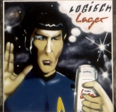 Logisch, Lager … Binding Lager 1995 200 x 200 cm, spraycan on wood 1995