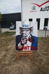 CETA TTIP Protest, I want you, Uncle Sam 2016
