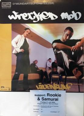Tags für die Vinyl CD LP und Poster Wrecked Mob (Spooman, Shark, Zoro, Zora, Shape, DJ Z-Cut). Layout artwork by Zora/SukiBamboo