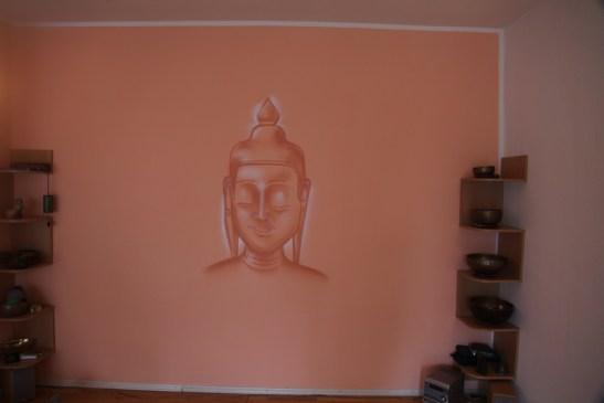 Buddha smiling, Yoga Zentrum Hofheim, 2016