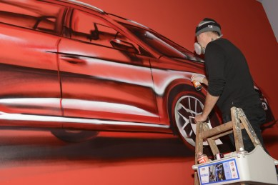 Seat Leon ST Launch, 11-2013 Live Graffiti Spraypainting