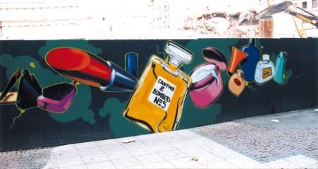 Marks & Spencer Bauzaun, Zeil Frankfurt 1998