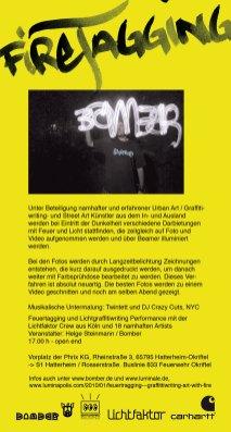 Handout, Flyer, Din Lang Luminale Lightpainting Bomber & Lichtfaktor, Phrix Okriftel, 2010