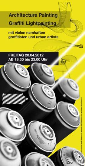 Handout, Flyer, Din Lang Luminale Lightpainting Bomber & Lichtfaktor, Heyne Fabrik Offenbach 2012