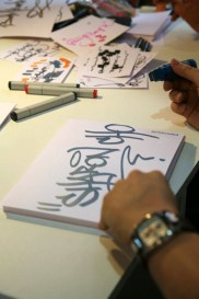 Live Graffiti your name at fair Paperworld, Frankfurt 2009