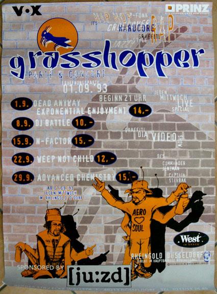 DIN A 2 Poster Grasshopper Jam 1993